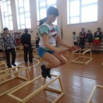 Карчиненкова Алёна (прыжки через нарты)